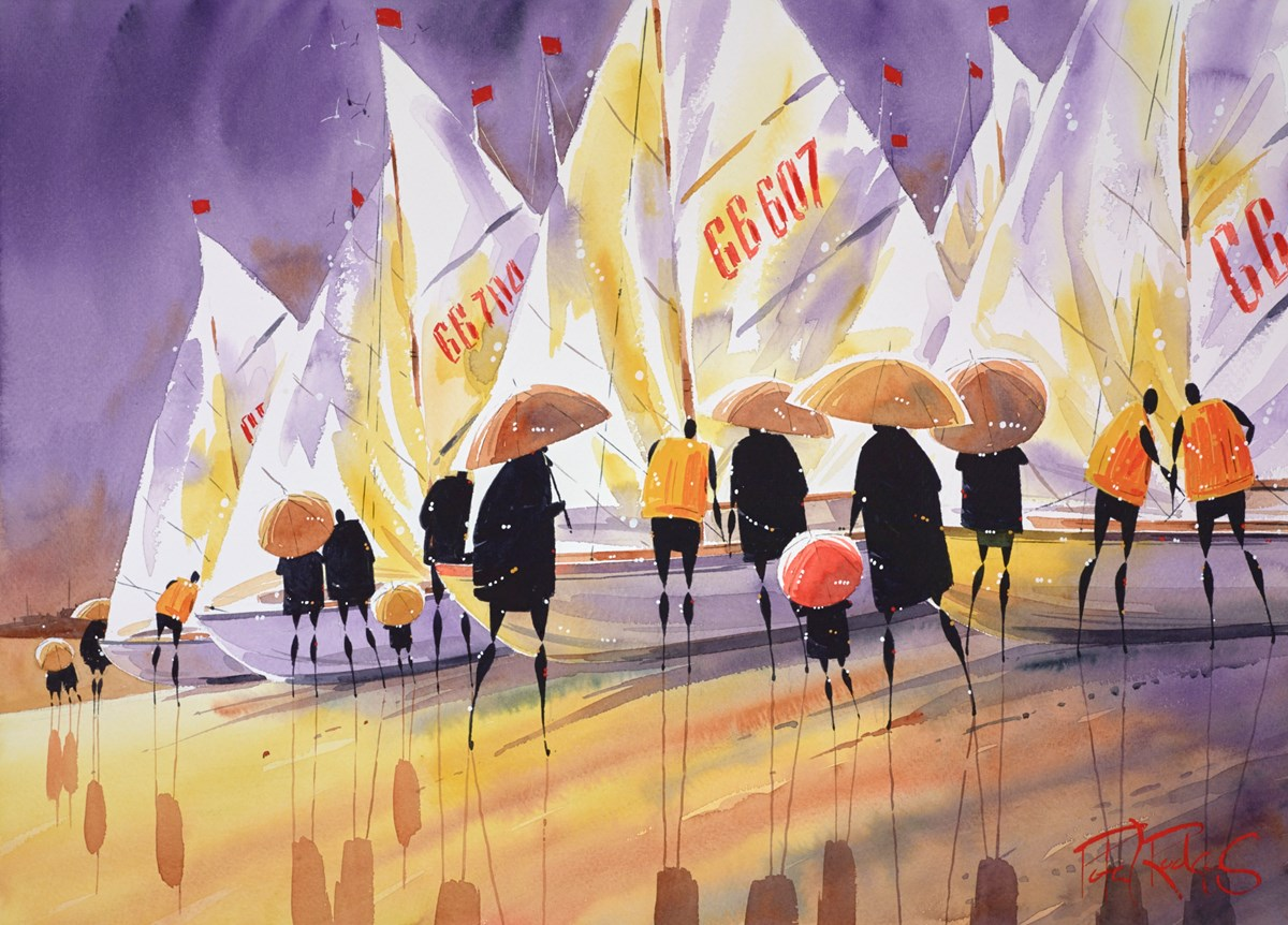 Regatta Shower by peter j rodgers -  sized 28x20 inches. Available from Whitewall Galleries